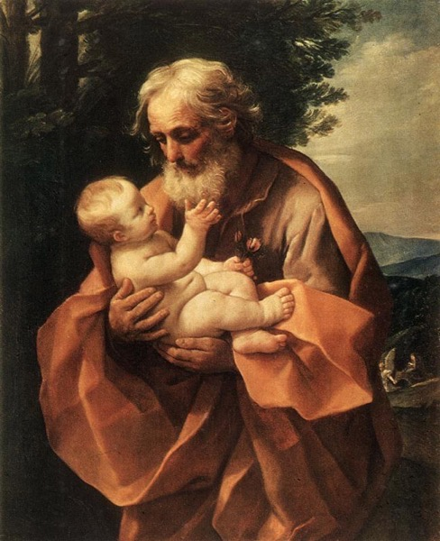 Guido Reni, 1620s, St. Joseph with the Child in His Arms